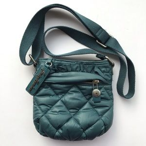 Juicy Couture Blue Fabric Quilted Small Crossbody